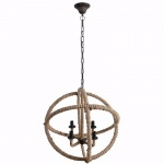 Benzara Astonishing Cade-4 Light Roped Chandelier