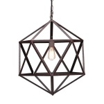 HomeRoots Lighting Amethyst Ceiling Lamp Small