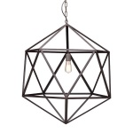 HomeRoots Lighting Amethyst Ceiling Lamp Large