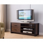 "Benzara 47"" Width Tv Stand With Frame Design Legs, Black And Dark Brown"