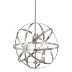 HomeRoots Lighting Aston Ceiling Lamp Satin Nickel