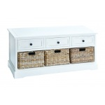 "Benzara 20""h Unique Wood Basket Cabinet Crafted With Fine Detailing"