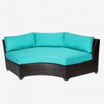 HomeRoots Outdoor Barbados Curved Armless Sofa