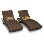 HomeRoots Outdoor Bali Chaise Set Of 2 Outdoor Wicker Patio Furniture