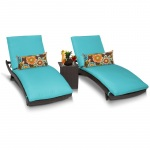 HomeRoots Outdoor Bali Chaise Set Of 2 Outdoor Wicker Patio Furniture With Side Table