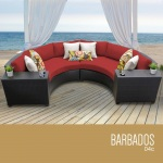 HomeRoots Outdoor Barbados 4 Piece Outdoor Wicker Patio Furniture Set 04c