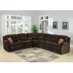 HomeRoots Furniture 3-piece Transitional  Sectional With Queen Sofa Bed And Reclining Love Seat With Storage Console