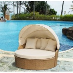 W Unlimited Infinity Collection Canopy Daybed Outdoor Backyard Patio Furniture