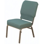 "KFI ""HWC1030"" Series 3"" Seat Stack Chair with Grade 1 Fabric, Without Arms"