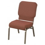 "KFI ""HWCR1030"" Series 3"" Seat Stack Chair with Grade 1 Fabric, Without Arms"