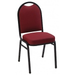 "KFI ""1530"" Series Stack Chair with Grade 1 Fabric: 3"" Seat, Without Arms"