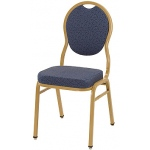 "KFI ""1630"" Series Stack Chair with Grade 1 Fabric: 3"" Seat, Without Arms"